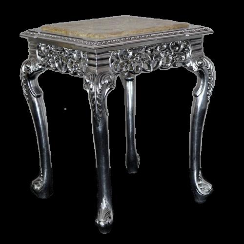 Masuta aditionala argintie clasica stil baroc 55cm x 55cm