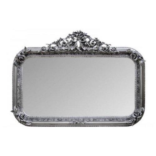 Oglinda clasica baroc argintie 140cm x 100cm
