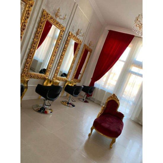 Oglinda baroc aurie 180cm x 100cm lemn masiv