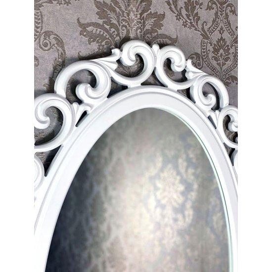 Oglinda clasica stil baroc alba 110x80cm