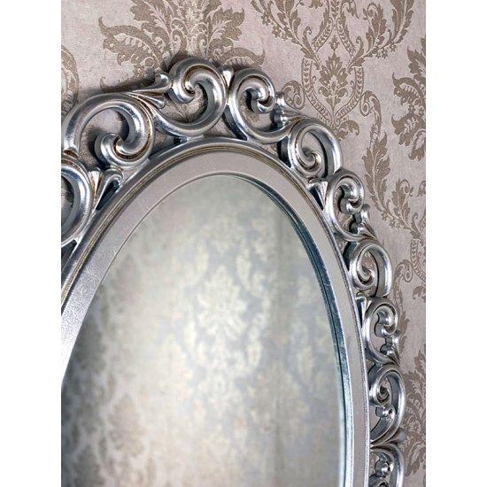 Oglinda clasica stil baroc argintie 110x80cm