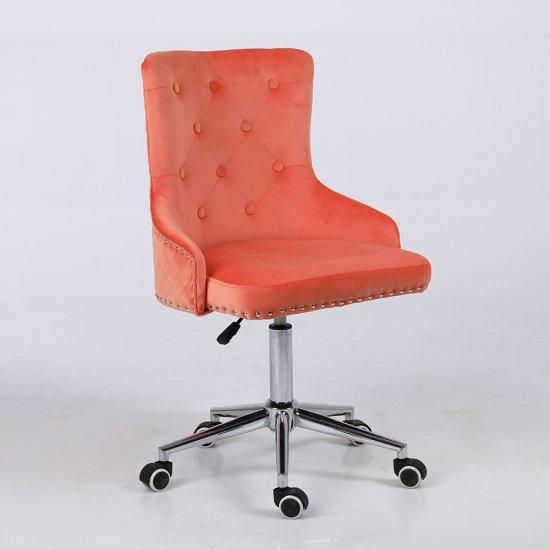 Scaun birou rotativ  LION , catifea portocalie