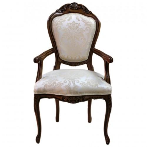 Scaun LUXURY baroc cadru maro / tapiserie bej regal