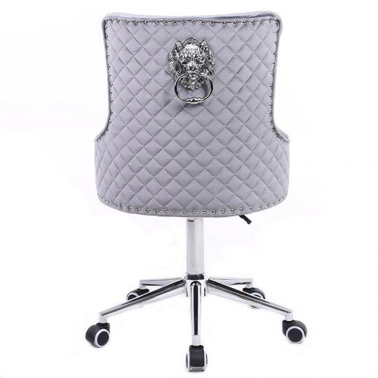 Scaun birou rotativ  LION , catifea gri