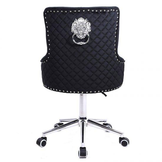 Scaun birou rotativ  LION , catifea neagra
