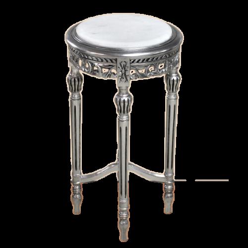 Masuta aditionala rotunda argintie clasica baroc