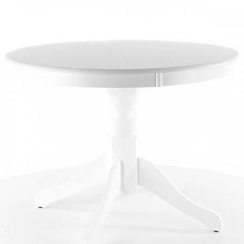 Masa dining clasica rotunda alba 100cm