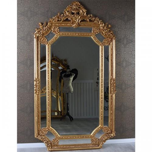 Oglinda baroc XXL aurie 200cm x 110cm