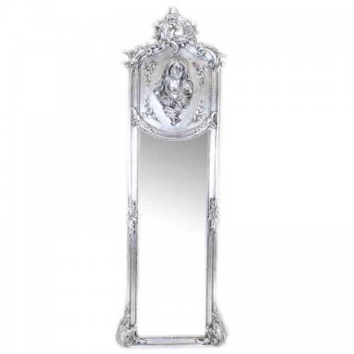 Oglinda clasica baroc argintie 180cm x 50cm