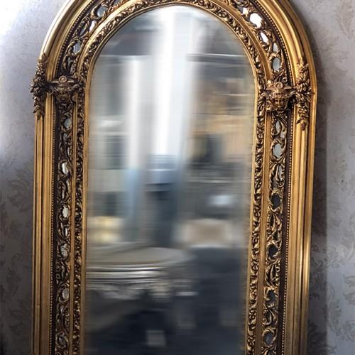 Oglinda baroc XXL aurie 175cm x 110cm