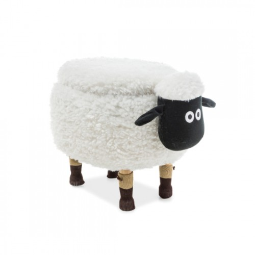 Pufic copii alb '' SHEEP '' cu ladita