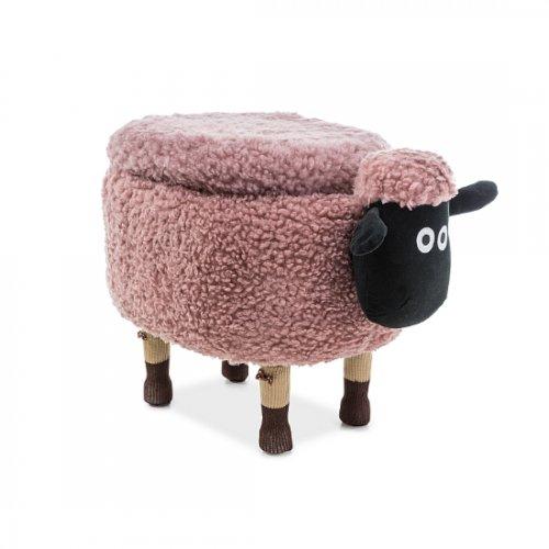Pufic copii roz '' SHEEP '' cu ladita