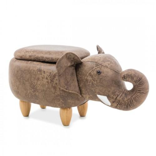 Pufic copii maro '' ELEPHANT cu ladita