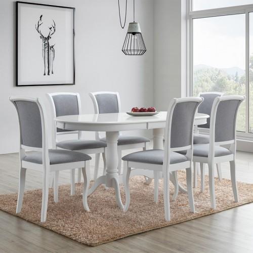 SET Masa ovala extensibila + 6 scaune stil clasic
