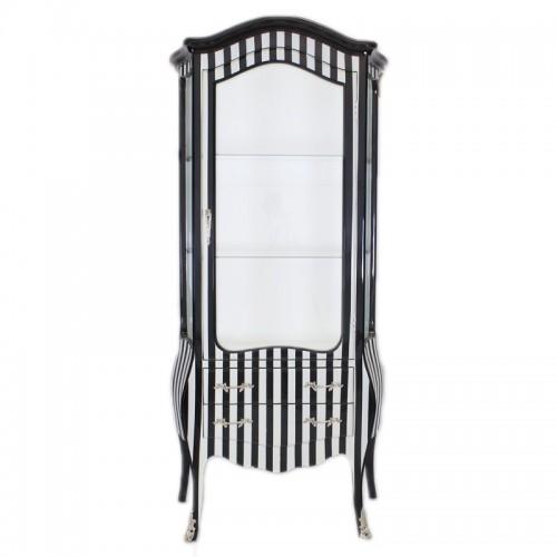 Vitrina in dungi alb-negru clasica stil baroc