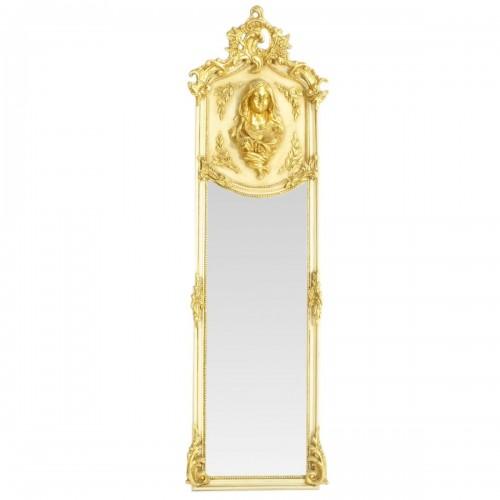 Oglinda clasica baroc crem/auriu 180cm x 50cm